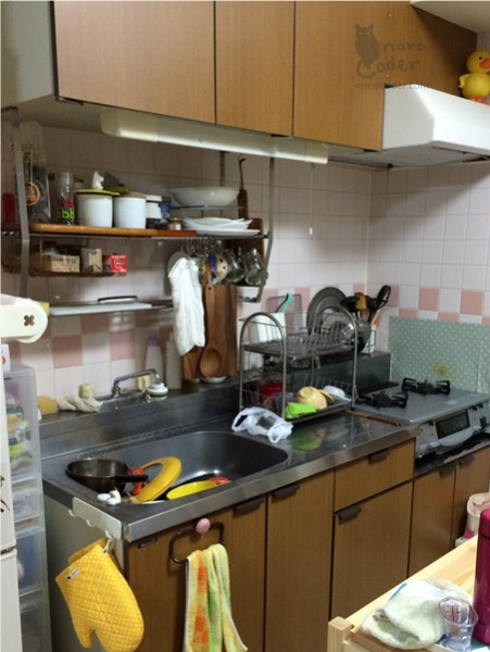 以前のキッチン