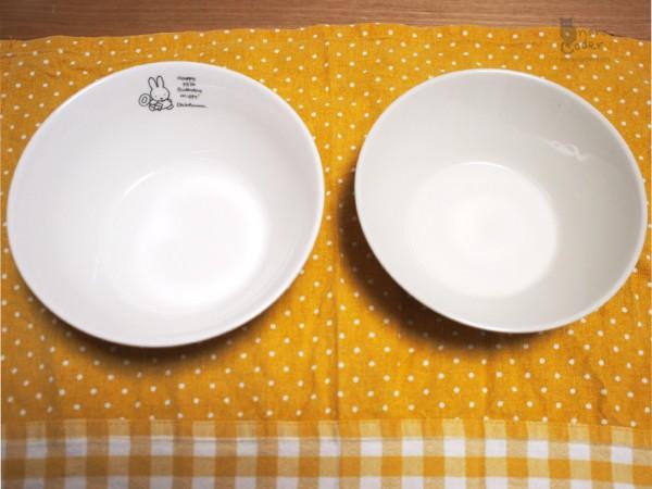 ミッフィー皿と比較