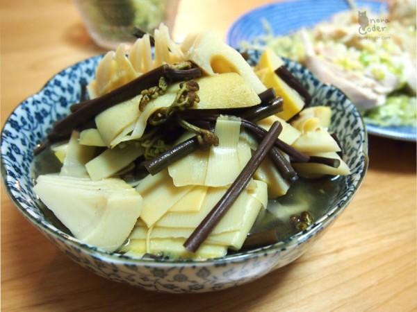 筍と蕨の煮物