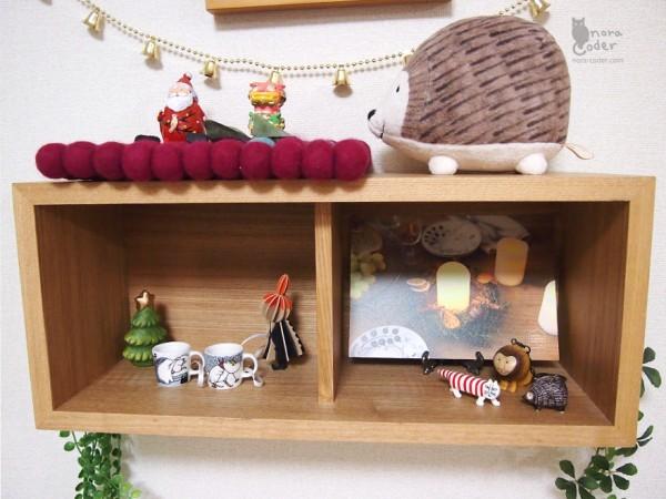 壁に付けられる家具のクリスマス