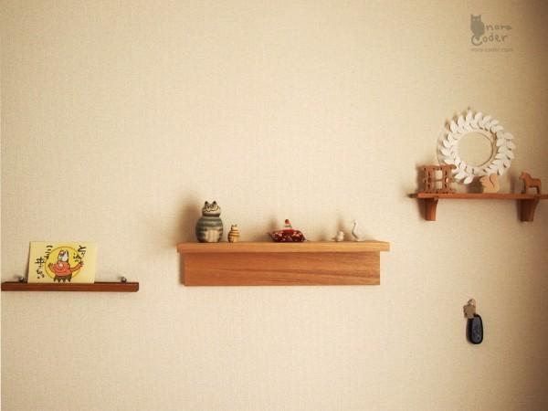 ソファ側飾り棚