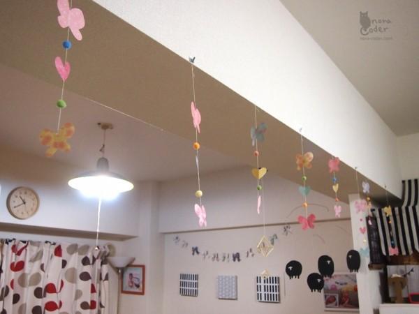 ひなまつりの蝶飾り